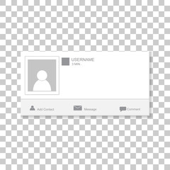 Social  photo frame. Contacts template framework. Insert your picture.