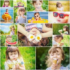 Children's collage summer photos.