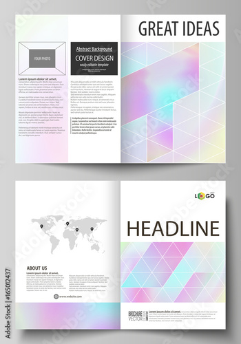 business templates for bi fold brochure flyer cover design