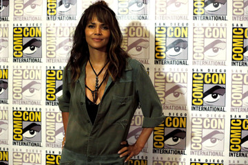 """Cast member Berry poses at a press line for """"Kingsman: The Golden Circle"""" during the 2017 Comic-Con International Convention in San Diego"""