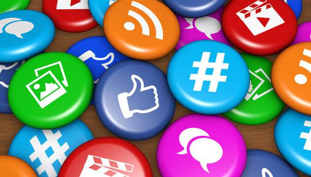 Social Media Icons Badges