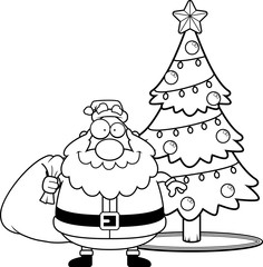 Cartoon Santa Claus Christmas Tree