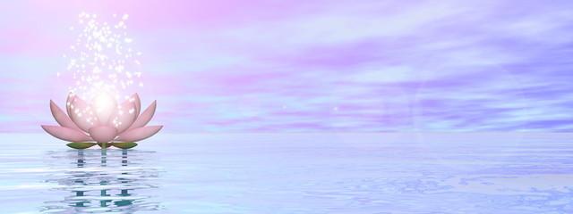 Zen lily flower - 3D render