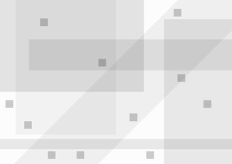 Abstract grey background with geometric shapes. Rectangular template.