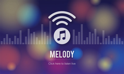Melody Audio Enterainment Listen Music Song Concept