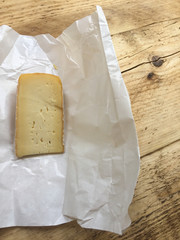 Unwrapped cheese at home