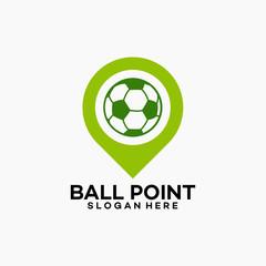 simple Ball Logo, Ball Point Logo template designs vector