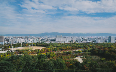 Top view from OSAKA castle