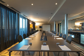 Interior of a modern luxury conference room