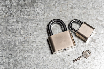 Padlock on the table