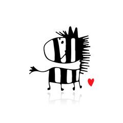 Zebra sketch for your design