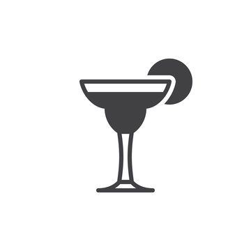 Cocktail margarita icon vector, filled flat sign, solid pictogram isolated on white. Symbol, logo illustration. Pixel perfect vector graphics