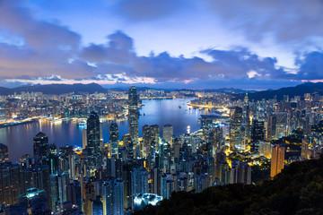 Hong Kong city morning