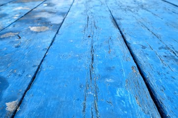 Blue Wooden Pavement.