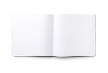 Blank open  book isolated for business ideas, top view