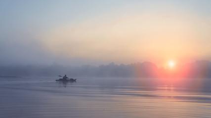 Fishing on the kayak.