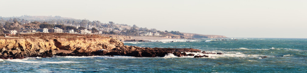 Monterey Bay panoramic photo in California USA