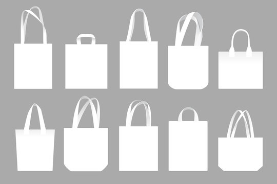 Vector set of canvas bags. Mock-up