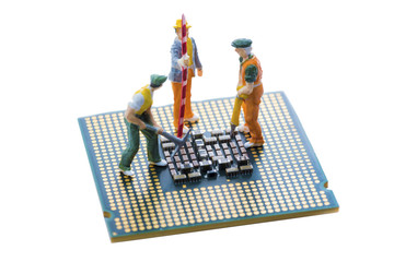 close up of Bitcoin money mining on graphic card,we see the technology of the mainboard,which is the important background of the computer.