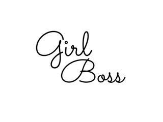 """""""girl boss"""" handwriting"""
