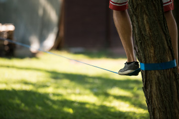 Man who came up on Slackline