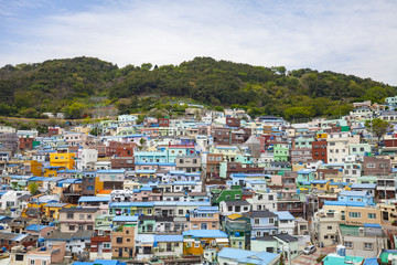 Gamcheon Culture Village. It is known for its brightly painted houses, which have been restored and enhanced in recent years to attract tourism