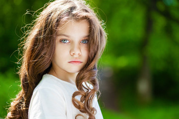 Portrait of a beautiful young little girl
