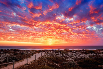 Sunset over the Indian Ocean in Western Australia