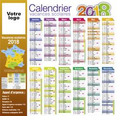 Calendrier 2018-06 - Vacances scolaire complet