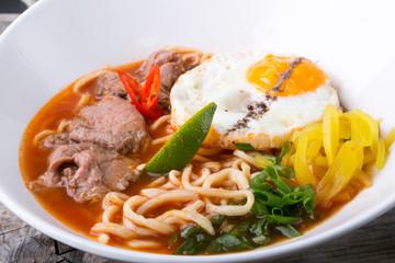 Asian noodles soup