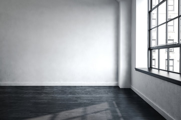 Bare unfurnished room in an urban apartment