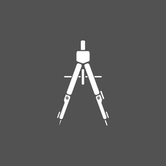 Drawing compass icon on a dark background