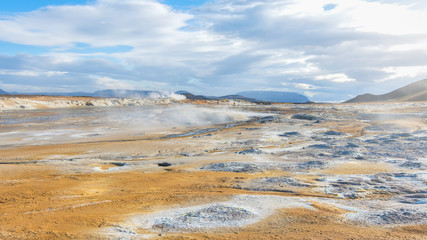 Amazing Namafjall Geothermal Area, Hverir, Iceland