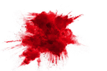Abstract design of red powder cloud