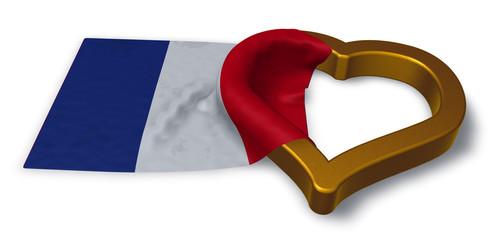 flagge von frankreich und herz
