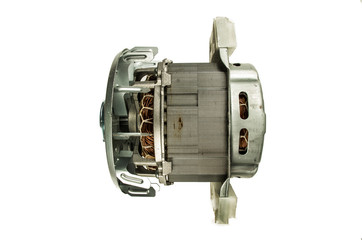 Electric motor isolated on the white background