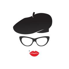 Attractive lady vector icon.