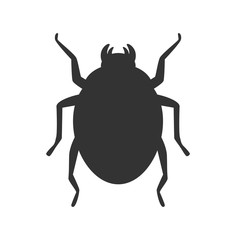 Scarab icon isolated. Egyptian symbol. Vector stock.