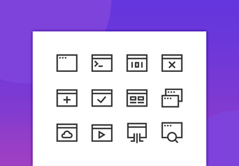 Applications Line Icons