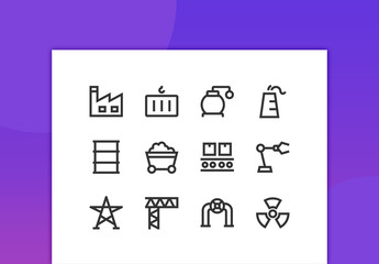 Industry Line Icons