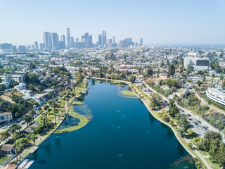 Los Angeles - Drone View on Echo Park