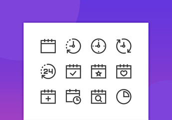 Schedule Line Icons