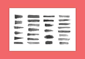 Watercolor Chunky Brush Strokes