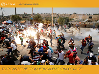 """A Picture and its Story: Tear gas scene from Jerusalem's """"Day of Rage\"""