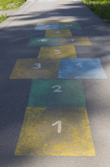 Marking for children's sports game hopscotch