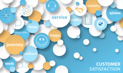 CUSTOMER SATISFACTION Concept Icons Banner