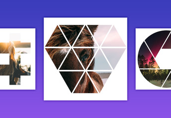 Geometric Photo Mask Set 5
