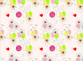 vector floral pattern with soft color
