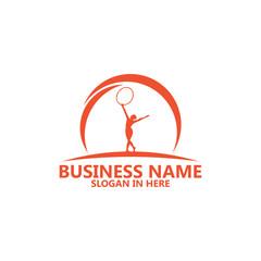 Fitness Hooping Logo Template Design