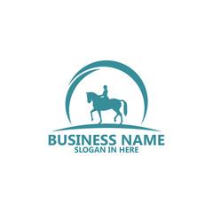 Horse Riding Logo Template Design